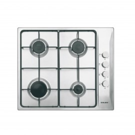 GLEM GAS HOB 60 CM SAFETY INOX CAST IRON