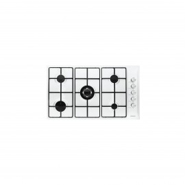 GLEM GAS HOB 90CM 4GAS+1DB IGNITION WHITE WITH SAFETY