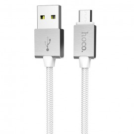 HOCO U49 METAL DATA CABLE MICRO WHITE
