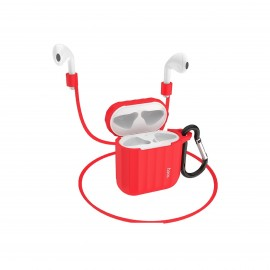 HOCO WB10 AIRPODS 1/2 SILICONE CASE - RED