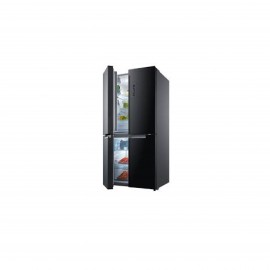 MIDEA REFRIGERATOR 4 DOORS 24CFT GLASS BLACK