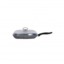 Falez Grill Pan Withlid Granite Gray 28 X 28