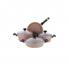 Falez Ccoking Set Of 7 Pcs Granite Beige