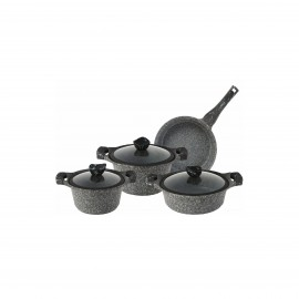 Falez Cooking Set Of 7 Pcs Granite Silverstone
