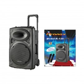 PRONEX SPEAKER 1600W PMPO  KARAOKE 2MIC WIRELE USB SD