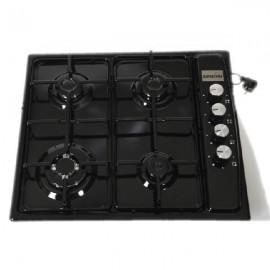 SUPER CHEF Hob 60 cm 3 Gas+1Triple Burner Ignition Black