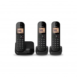 PANASONIC CORDLESS PHONE - 3 HANDSETS - TOUCH ECHO MODE