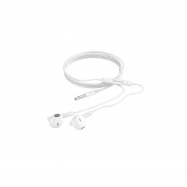 HOCO MELODIOUS WIRE CONTROL EARPHONES WITH MIC WHITE