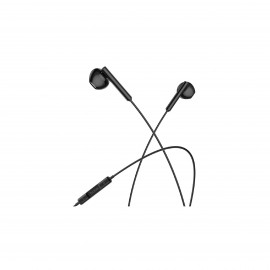 HOCO MELODIOUS WIRE CONTROL EARPHONES WITH MIC BLACK