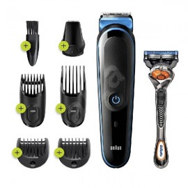 All-in-One trimmer 5 for Face, Hair, and Body, Black/Blue