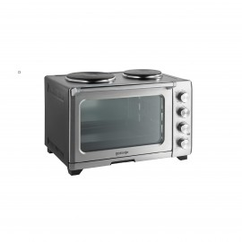 GORENJE ELECTRIC OVEN 33 L 1600W WITH FAN INOX + 2 HOT PLATE
