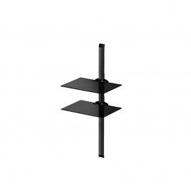 SONOROUS STAND 2 SHELVES TEMPERED GLASS, BLACK COLOR 5KG 45X