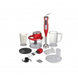 BLACK & DECKER HAND BLENDER 1000 W STAINLESS STEEL RED