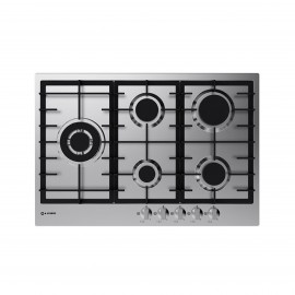 SMALVIC HOB 75 CM 5 BURNERS CAST IRON BLACK
