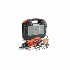 BLACK & DECKER 90 W CORDED ROTARY TOOL+ ACCESSORIES + KITBOX