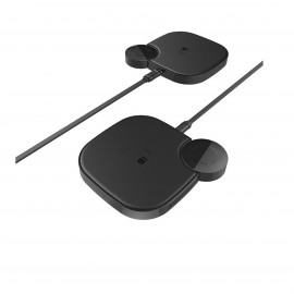 HOCO S5 RICH POWER 2-IN-1 WIRELESS CHARGER - BLACK