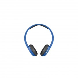 SKULLCANDY UPROAR BT ROYAL/CREAM/BLUE ON EAR
