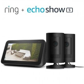 Stick up Cam Wired 2PK bundle with Echo Show 5 (2nd Gen)