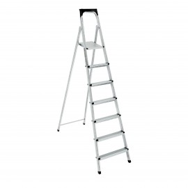10 Steps Euro Steel Ladder Extra Top Step Galvanized Rectang