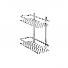 """TEKNOTEL ES.067.01 BATH 2 SHELVES-CHR"
