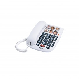 ALCATEL TMAX10 CORDED WH BIG BUTTON 6 ONE-TOUCH PHOTO KEYS-
