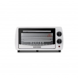 BLACK & DECKER ELECTRIC OVEN 800 W 9 L DOUBLE GLASS WHITE