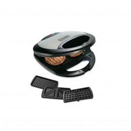 BLACK & DECKER WAFFLE MAKER&GRILL 750 W 3 IN 1
