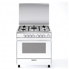 G.GAS COOKER WIDE 80CM 5 BURNERS WHITE FULL SAFETY
