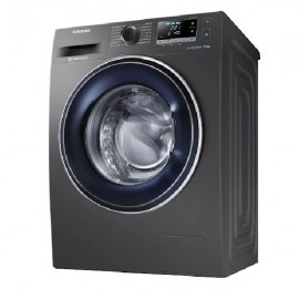 SAMSUNG Washer Front Load  8 KG 1200 RPM Silver Eco Bubble